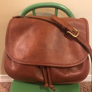 Coach vintage Shoulder Bag brown leather No. 4050